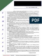 Comunicato N 47 Ente Bilaterale Formazione Del 12 Dicembre 2012