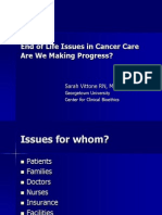 End of Life Issues in Cancer Care