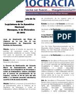 Barómetro Legislativo Diario del martes, 11 de diciembre de 2012