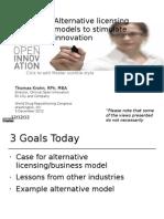Drug Repositioning - Alternative Licensing Models