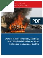 Efecto de la Aplicación de la Ley Antidrogas en la Violencia por Drogas