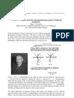 Negative refraction history