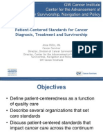 Patient-Centered Standards for Cancer Diagnosis, Treatment and Survivorship