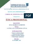Trabajo La Etica y La Sociedad