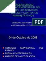 04 Oct Actividad Empresarial Del Estado, Servicios Publicos y Cont Adm