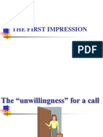 The First Impression in Sales Call