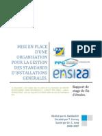 Mise en place d'une organisation pour la gestion des standards d'instalation générales