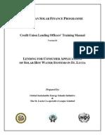 Caribbean Solar Finance Programme, Credit Union Lending Officers' Training Manual