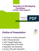 Higher Edu in Developing Countries
