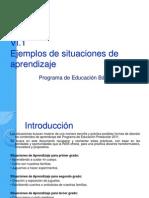 Ejemplos de Situaciones de Aprendizaje