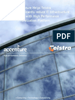 Accenture Helps Telstra significantly reduce IT Infrastructure Costs with High Performance Virtualization Platform
