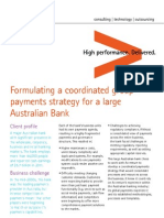 Formulating a coordinated group payments strategy for a large Australian Bank
