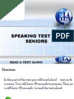 Speaking Test- Level Test