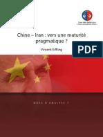 Chine-Iran - Vers une maturité pragmatique