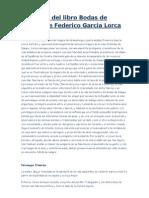 Resumen del libro Bodas de Sangre de Federico García Lorca