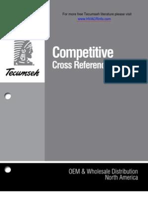 Tecumseh Competitive Cross Ref | Statistical Mechanics