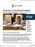 Susan Rice's Enrichment Program