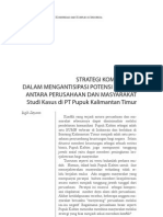STRATEGI KOMUNIKASI DALAM MENGANTISIPASI POTENSI KONFLIK ANTARA PERUSAHAAN DAN MASYARAKAT Studi Kasus di PT Pupuk Kalimantan Timur
