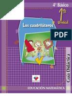 Guía Didáctica del profesor Matemáticas 4°