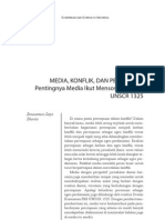MEDIA, KONFLIK, DAN PEREMPUANPentingnya Media Ikut MensosialisasikanUNSCR 1325