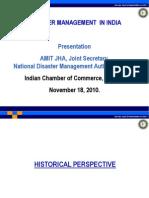 Disaster Management in India - 18 Nov 2010 at ICC Kolkata