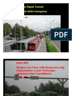 Analysis of Delhi Bus rapid transit corridors