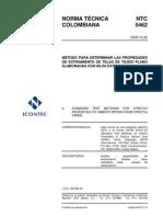 Método Para Determinar Las Propiedades De  Estiramiento  De  Telas  De  Tejido Plano Elaboradas Con Hilos Extensibles -NTC5462