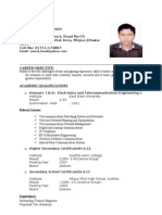 Resume of Zaved Fuad