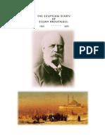 THE EGYPTIAN DIARY OF ELIJAH BRENTNALL 1852 - 3