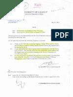 Admin - Demarcation of Boundaries of the University.