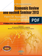 Palm Oil Economic Review & Outlook Seminar 2013