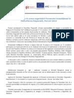 Primele rezultate în urma organizării Forumului investiţional în Dezvoltare Regională