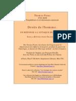 Paine, Thomas - Droits de l'Homme