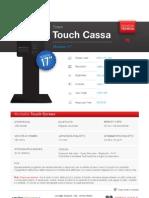 """Totem Touch Cassa 17"""" - Per la vendita di beni o sevizi"""