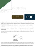 Camada de persistência de dados_ DAO e ActiveRecord _ Um Manifesto!