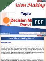 Decision Making Part 1