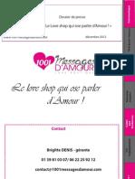 Dossier de presse 1001 messages d'amour