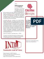 Cáritas y la Fundación Intra inauguran la nueva tienda @rropa en Primado Reig, 18, Valencia
