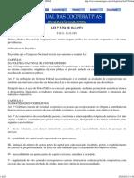 LEI Nº 5.764 DE 16.12.1971 - LEI DAS COOPERATIVAS