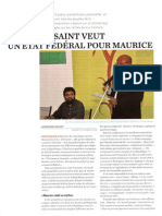 Joël Toussaint veut un Etat fédéral pour Maurice