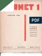 Carnet 1 - Janvier 1931, par Carlo Suarès