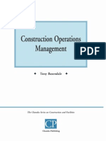 Construction Operations Management (Tony Baxendale)