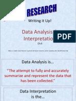 Write Up- Data Analysis & Interpretation