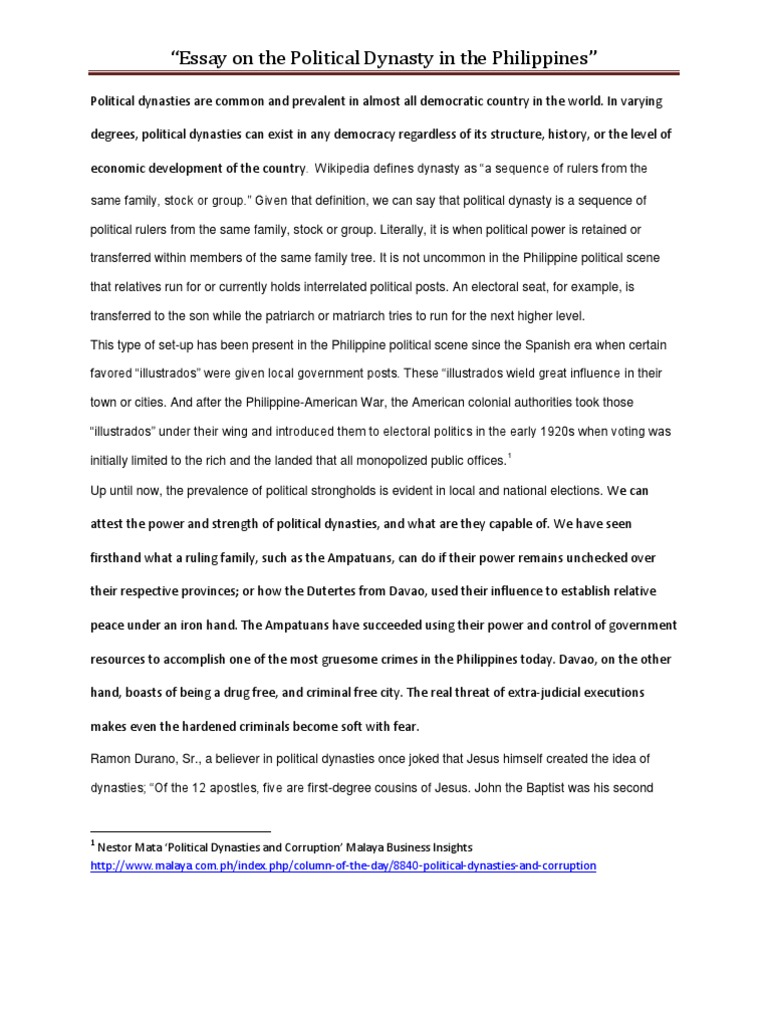 philippine government essay