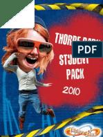 Thorpe Park Student Pack