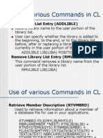 Commands in CL