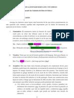RESUMEN DE LA SINTAXIS BÁSICA DE 1º DE GRIEGO(Casos)
