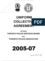 2005 to 2007 TPSB and TPA Uniform Collective Agreement