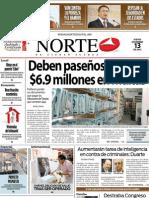 Periodico Norte de Ciudad Juárez 13 de Diciembre de 2012