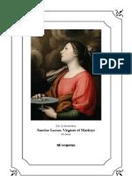 Vísperas cantadas de Santa Lucía, virgen y mártir.